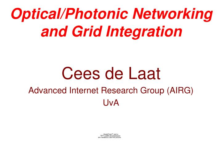 Optical photonic networking and grid integration