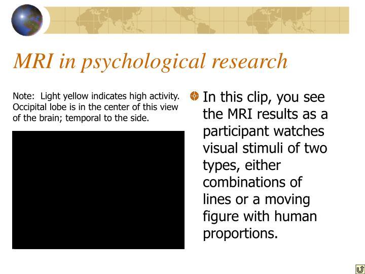 MRI in psychological research
