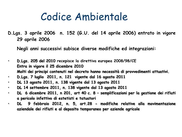 Codice Ambientale