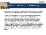 medicaid expansion severability