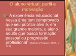 o aluno virtual perfil e motiva o12
