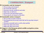 cooperation transport