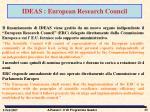 ideas european research council