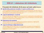 ideas valutazione del richiedente
