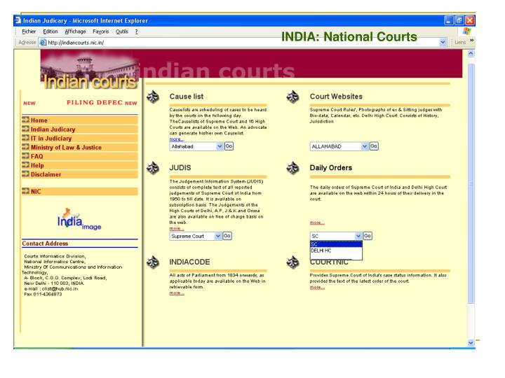INDIA: National Courts