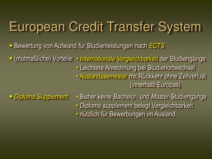European Credit Transfer System