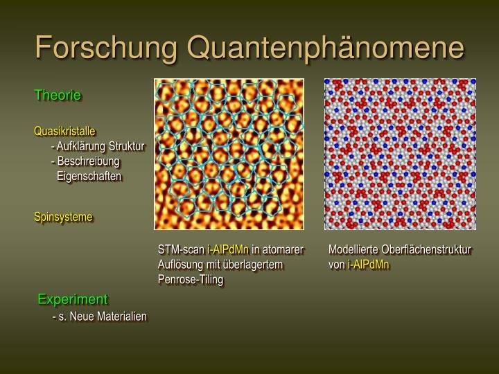 Forschung Quantenphänomene