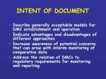 intent of document