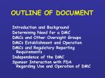 outline of document