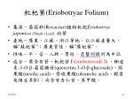 eriobotryae folium