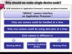 why should we make single device node