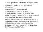 akut hepatitisek klinikum lefoly s labor