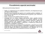 procedimiento especial sancionador