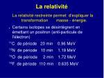la relativit