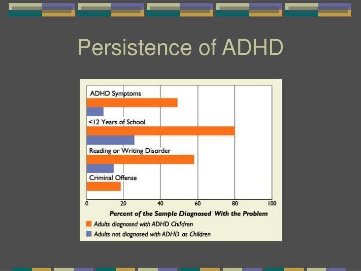 Persistence of ADHD