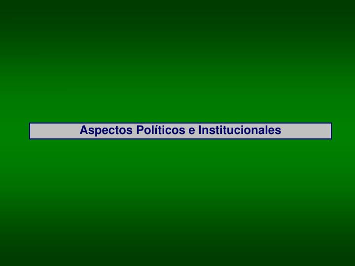 Aspectos Políticos e Institucionales