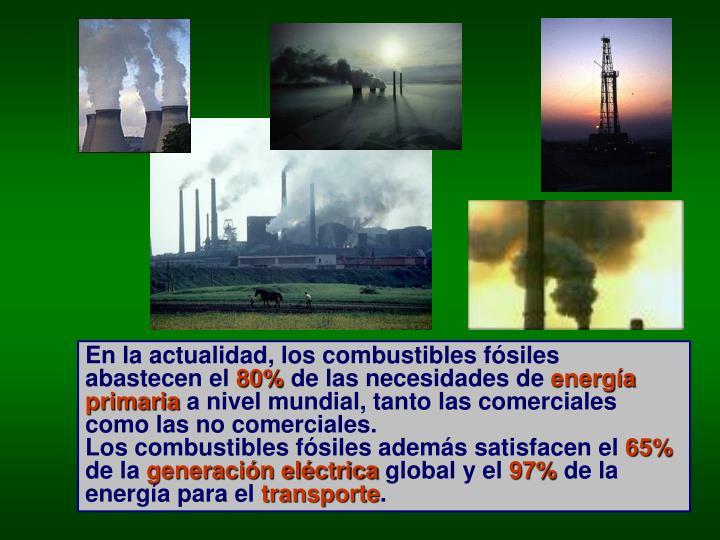 En la actualidad, los combustibles fósiles abastecen el