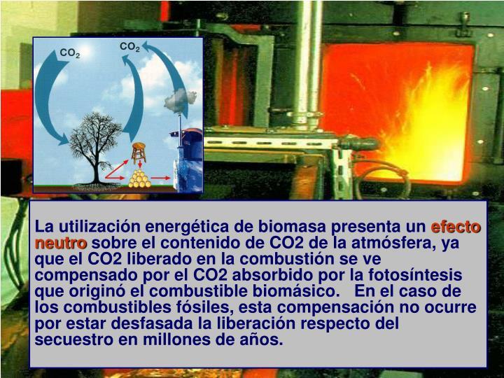 La utilización energética de biomasa presenta un