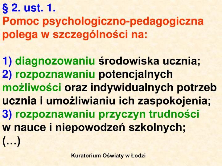 §2. ust. 1.