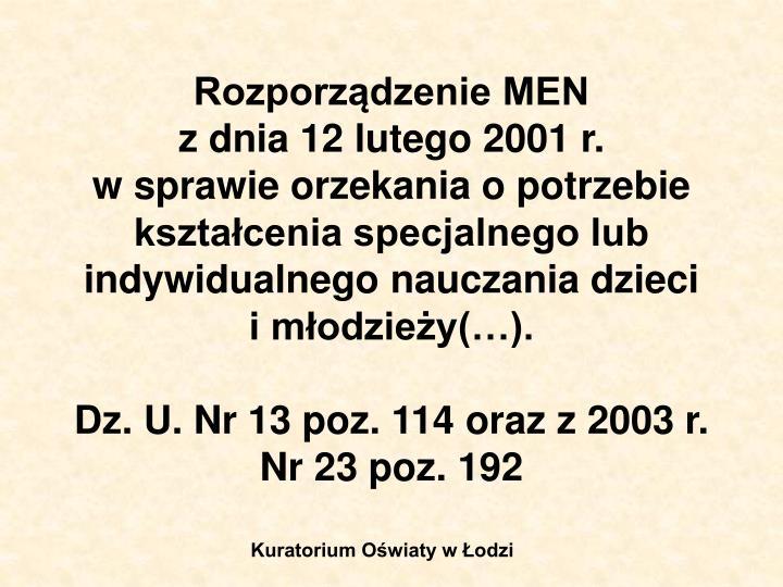 Rozporządzenie MEN