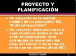 proyecto y planificaci n