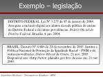 exemplo legisla o