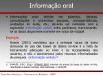informa o oral