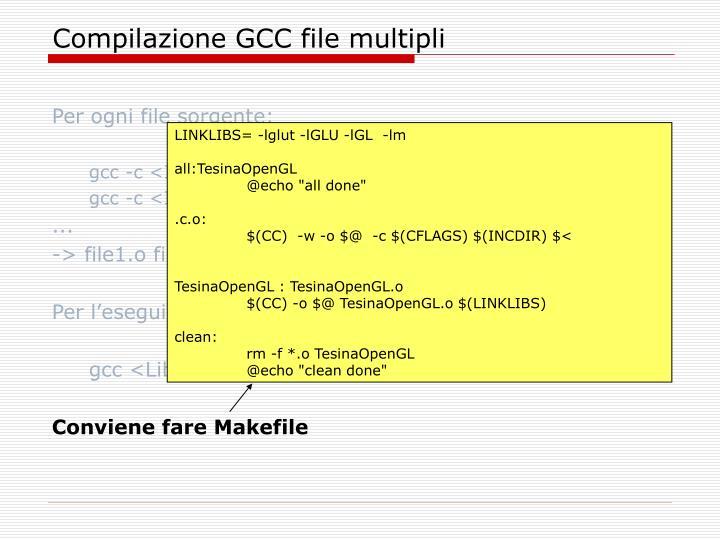 Compilazione GCC file multipli