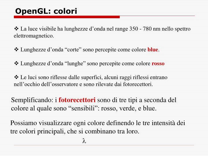 OpenGL: colori