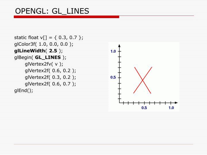 OPENGL: GL_LINES