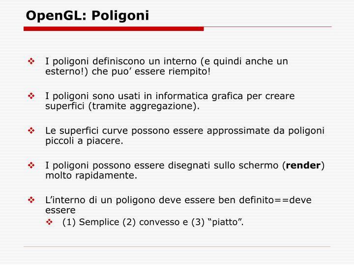 OpenGL: Poligoni