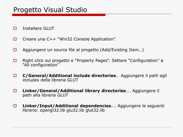 Progetto Visual Studio
