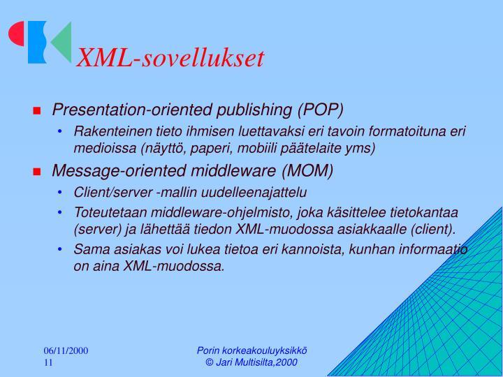XML-sovellukset