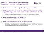 phase 1 classification des instruments financiers impacts sur la gestion alm2