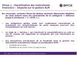 phase 1 classification des instruments financiers impacts sur la gestion alm4