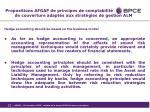 propositions afgap de principes de comptabilit de couverture adapt s aux strat gies de gestion alm