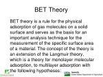 bet theory