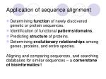 application of sequence alignment