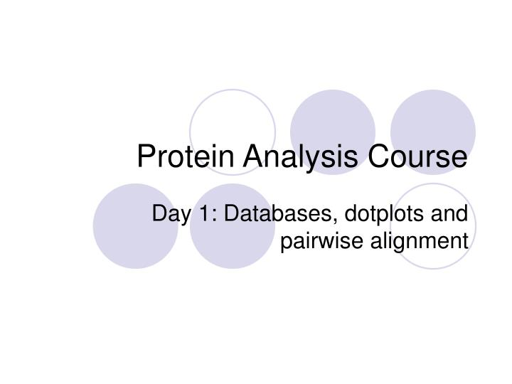 protein analysis course n.