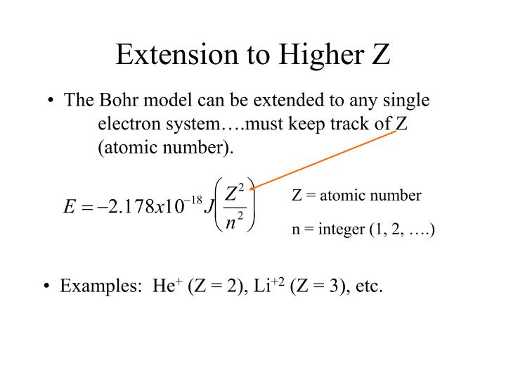 Extension to Higher Z