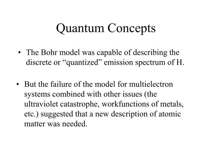 Quantum Concepts