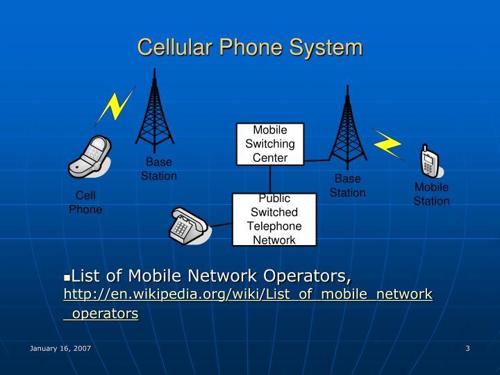 Cellular phone system