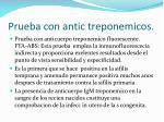 prueba con antic treponemicos