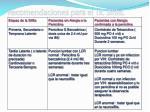 recomendaciones para el tx sifilis