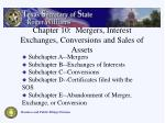 chapter 10 mergers interest exchanges conversions and sales of assets