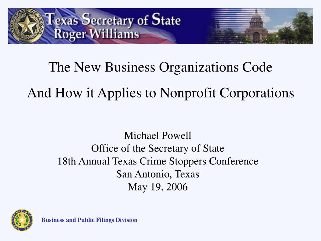 PPT - Michael Powell Office of the Secretary of State 18th