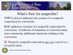 what s new for nonprofits