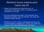 abraham busca esposa para isaac cap 24