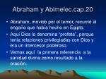 abraham y abimelec cap 20