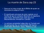 la muerte de sara cap 23